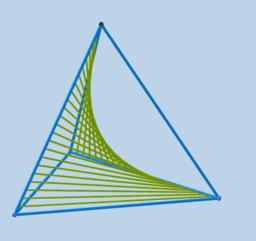 Superficie reglada sobre un tetraedro