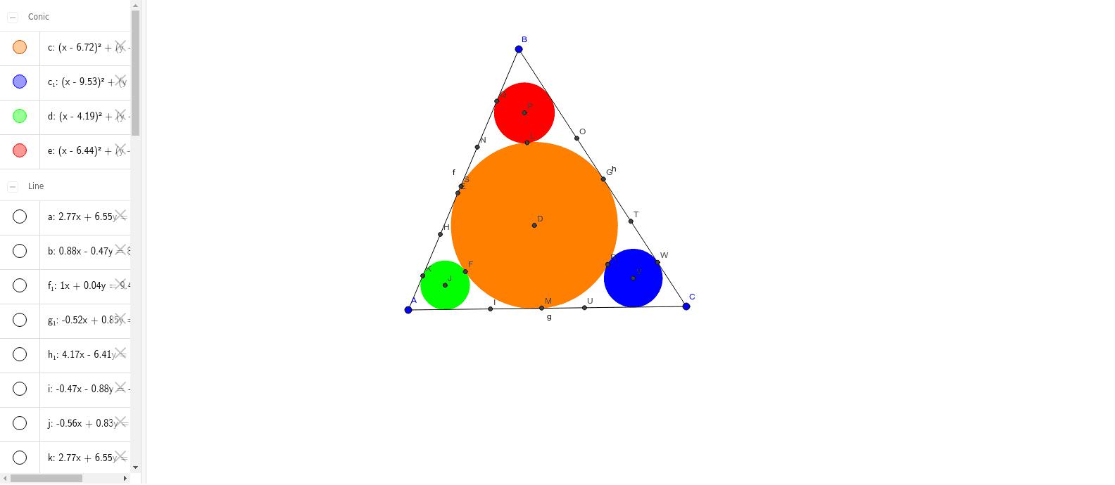 วงกลมในสามเหลี่ยม Press Enter to start activity