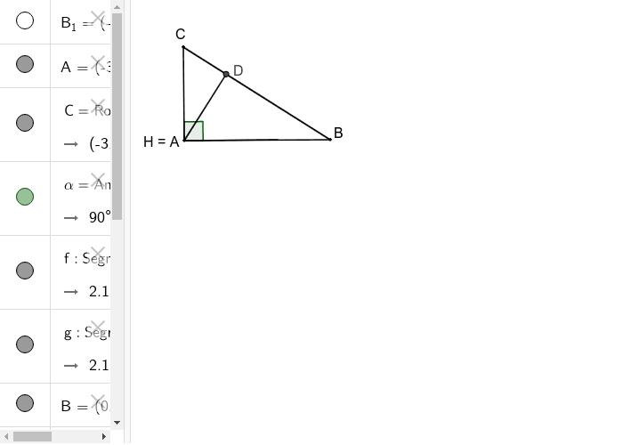 Inaltimile in triunghiul dreptunghic