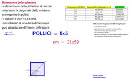 Trasformazione di pollici in centimetri e viceversa