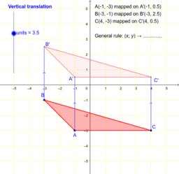 Translation of a triangle: vertical