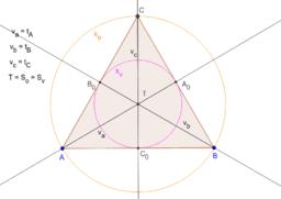 Rovnostranný + úsečky + kružnice