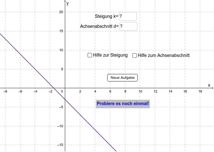 Finde die korrekte Funktion Drücke die Eingabetaste um die Aktivität zu starten