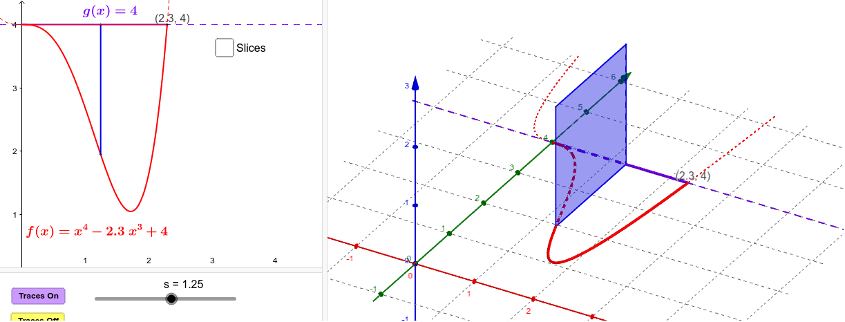 Cross sections are squares with one side in base. Press Enter to start activity