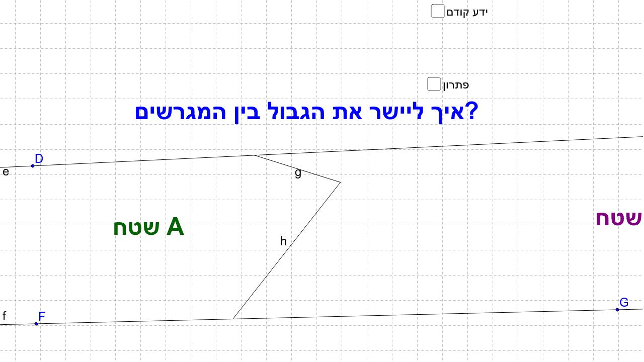 שאלת השוואת שטחים