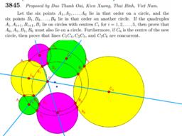 Eight circles problem