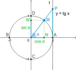 Sinus d'un angle sur le cercle