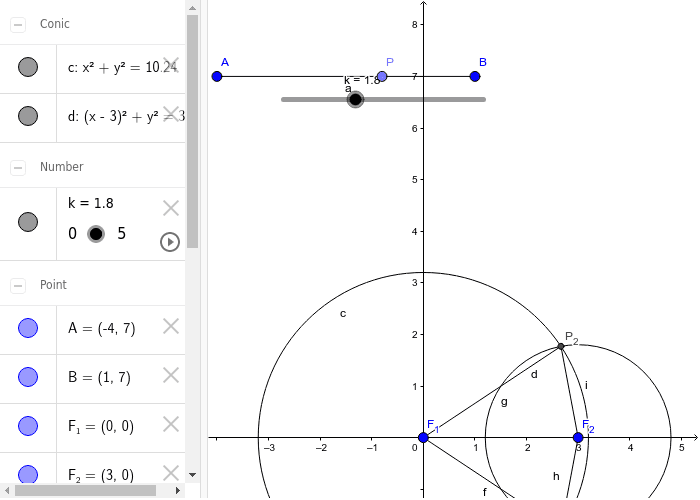 1st method: no limitations for radius of circumferences