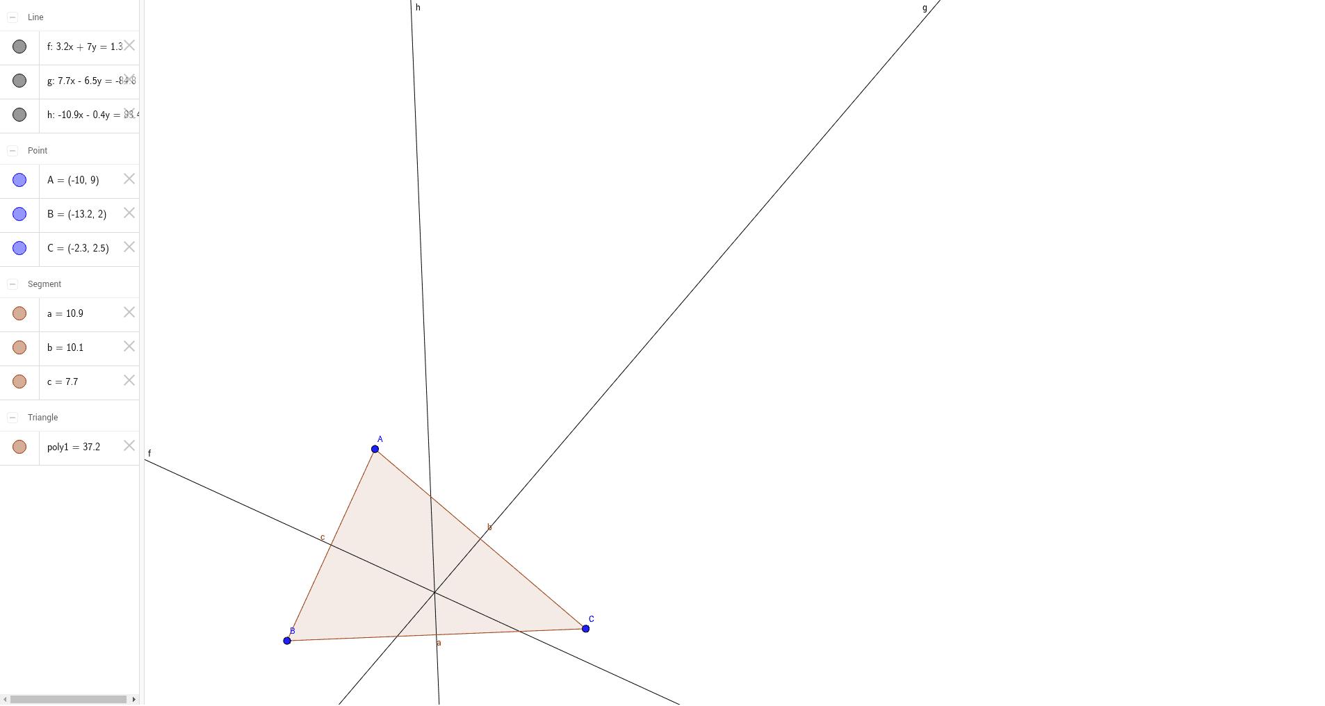 Médiatrices du triangle