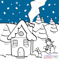 An animated Christmas Card