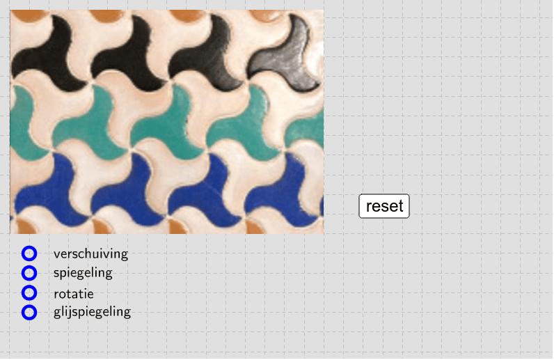 Selecteer een transformatie en onderzoek de symmetrie