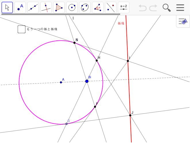 円の極と極線の性質