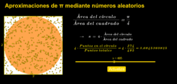 Aproximando  Pi mediante números aleatorios