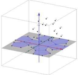 Desarrollo en plano de poliedros regulares con animación.