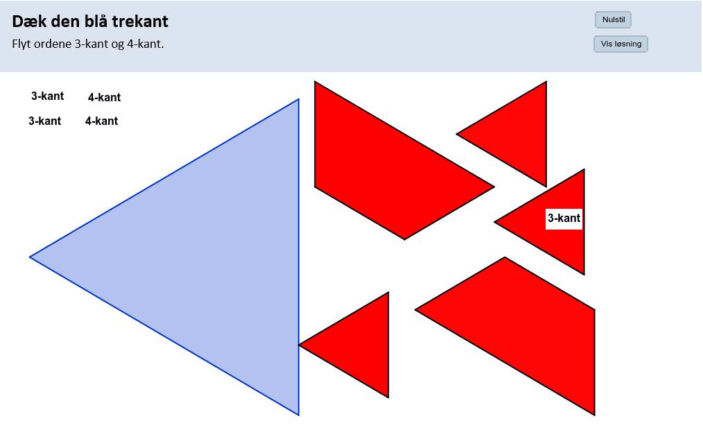Dæk den blå trekant