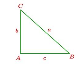 A partir de este triangulo rectángulo, contesta las siguientes preguntas.