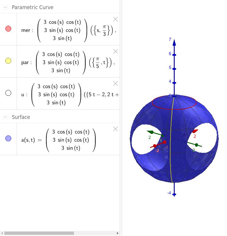 Parametrització de l'esfera