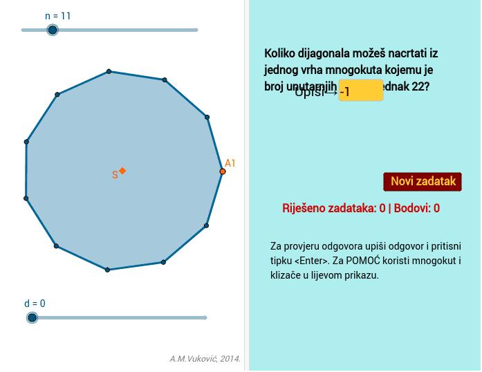 Vježba - dijagonale mnogokuta
