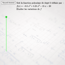 Variations d'une fonction polynôme