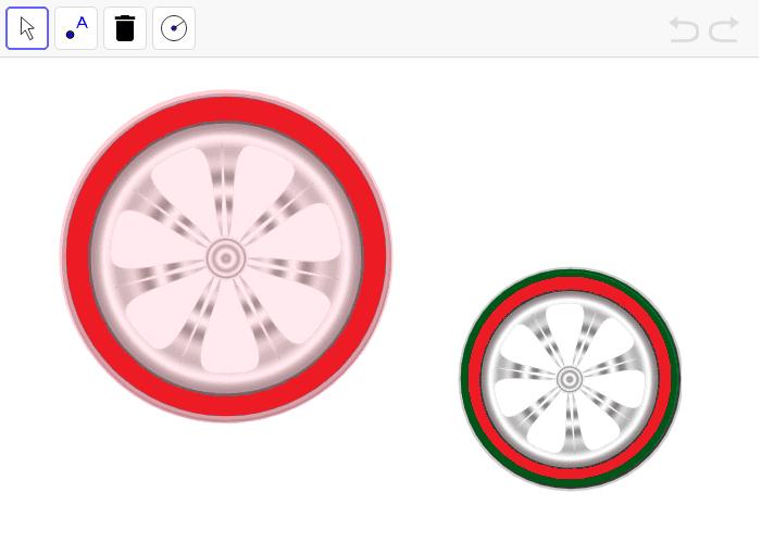 Los radios de las ruedas Presiona Intro para comenzar la actividad
