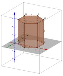 Prisma hexagonala ariketa