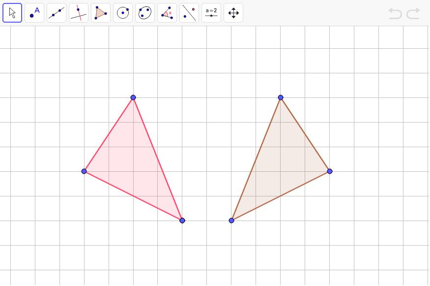 Pero que pasa si ahora tenemos la figura y su simetría.