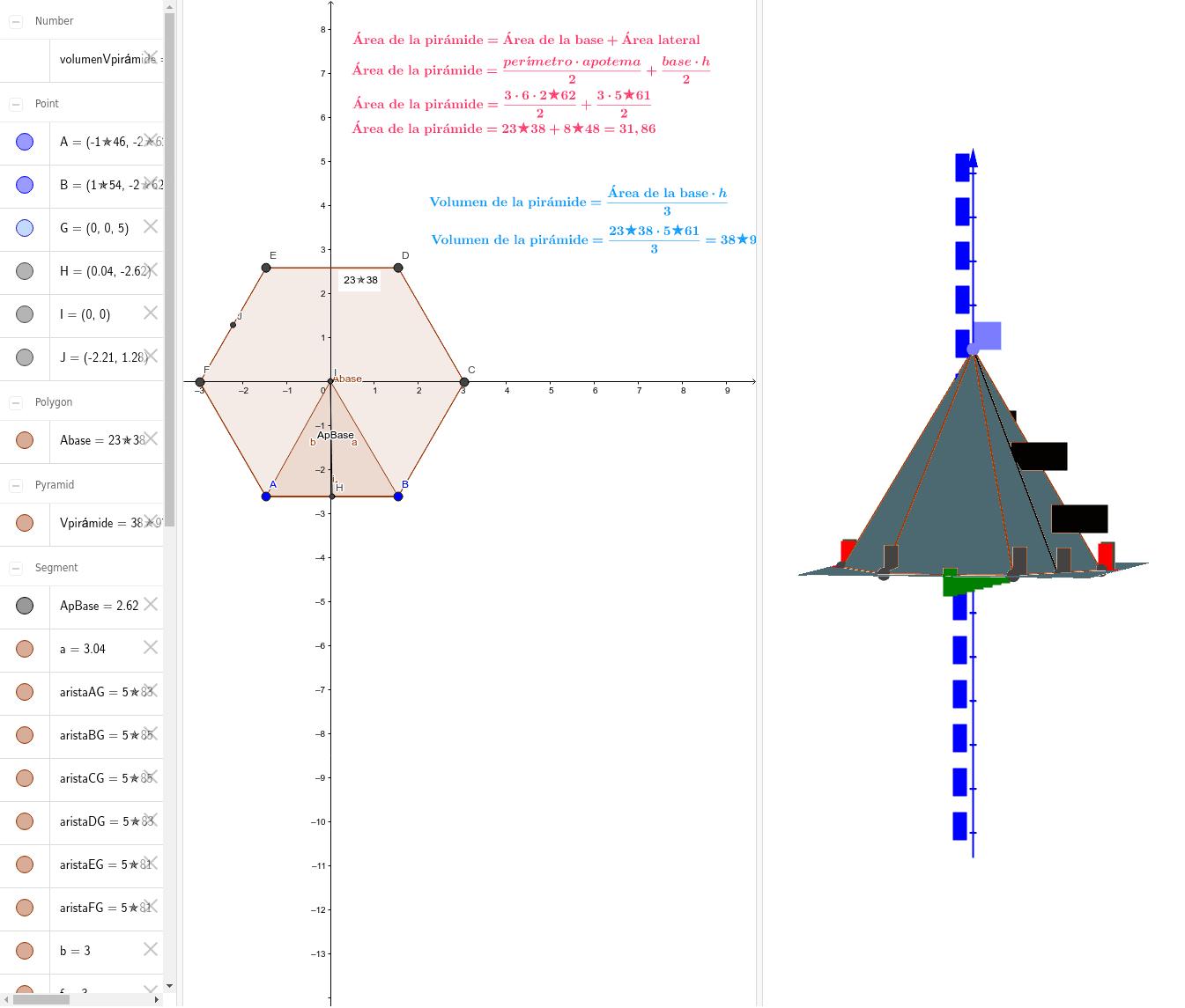 Área y volumen de la pirámide Presiona Intro para comenzar la actividad