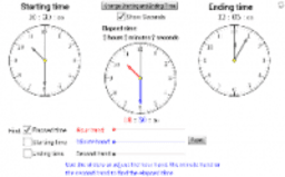 Find the Elapsed Time using 'Hours, Minutes & Seconds'