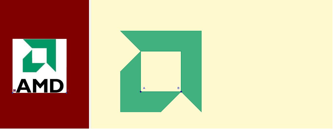 Redimensiona el logo de los puntos A y B.