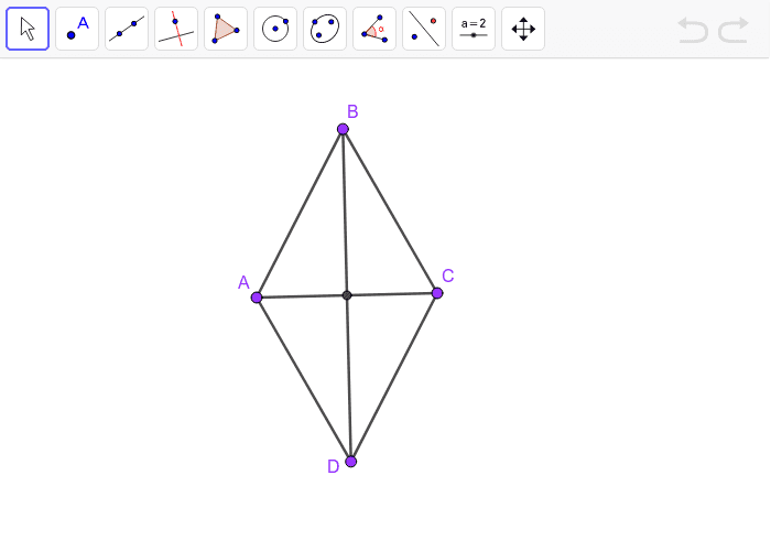 Rhombus with diagonals