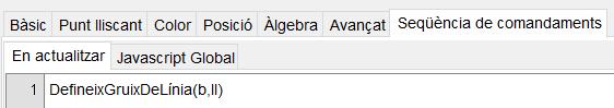 Expressió a introduir per mostrar o no les [u]línies[/u] de la superfície.