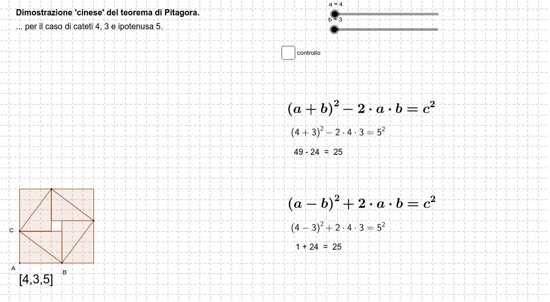 Dal triangolo [3,4,5] al caso generale. Premi Invio per avviare l'attività