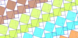 Pythagorean Theorem by Tessellation # 29 Tiling