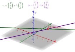 Vector Equations of 2 Lines (3D)