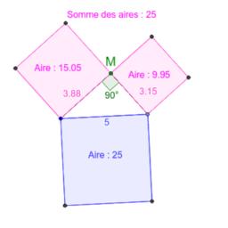Réciproque de Pythagore : angle droit