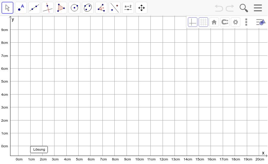 Dreieck 6: A(10/0), B(16/2), C(1/8): Zeichne das Dreieck und konstruiere den Umkreis. Füge den Screenshot der Koordinaten von U im Auftrag in Teams ein! Drücke die Eingabetaste um die Aktivität zu starten