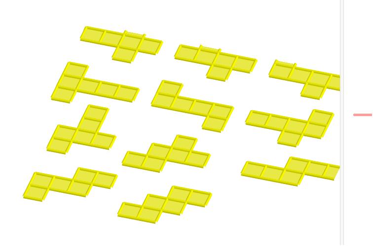 11 ontvouwing van een kubus Press Enter to start activity