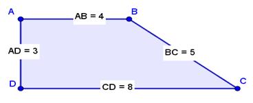 [i]ACTIVIDAD 2: CONSTRUCCIÓN DE UN TRAPECIO[/i] Construir un trapecio cuyos lados paralelos miden 4 u y 8 u.