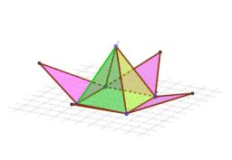 รูปคลี่พีระมิดฐานสี่เหลี่ยมจัตุรัส