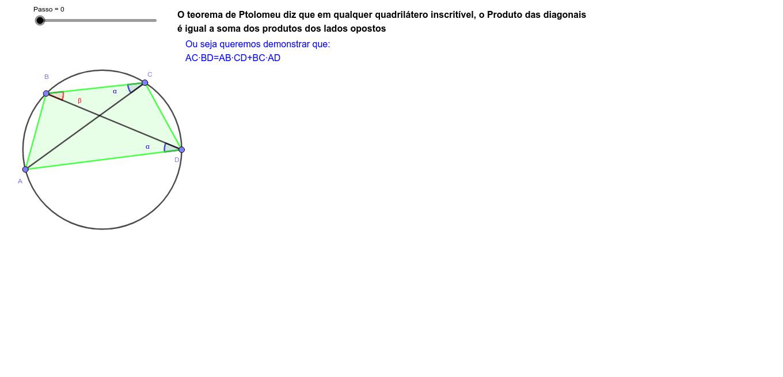 Demonstração do Teorema de Ptolomeu