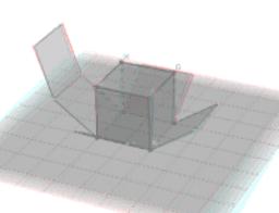 Animirana mreža kocke i prikloni kut dijagonale