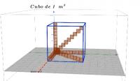 Llenado del cubo de 1 metro cúbico