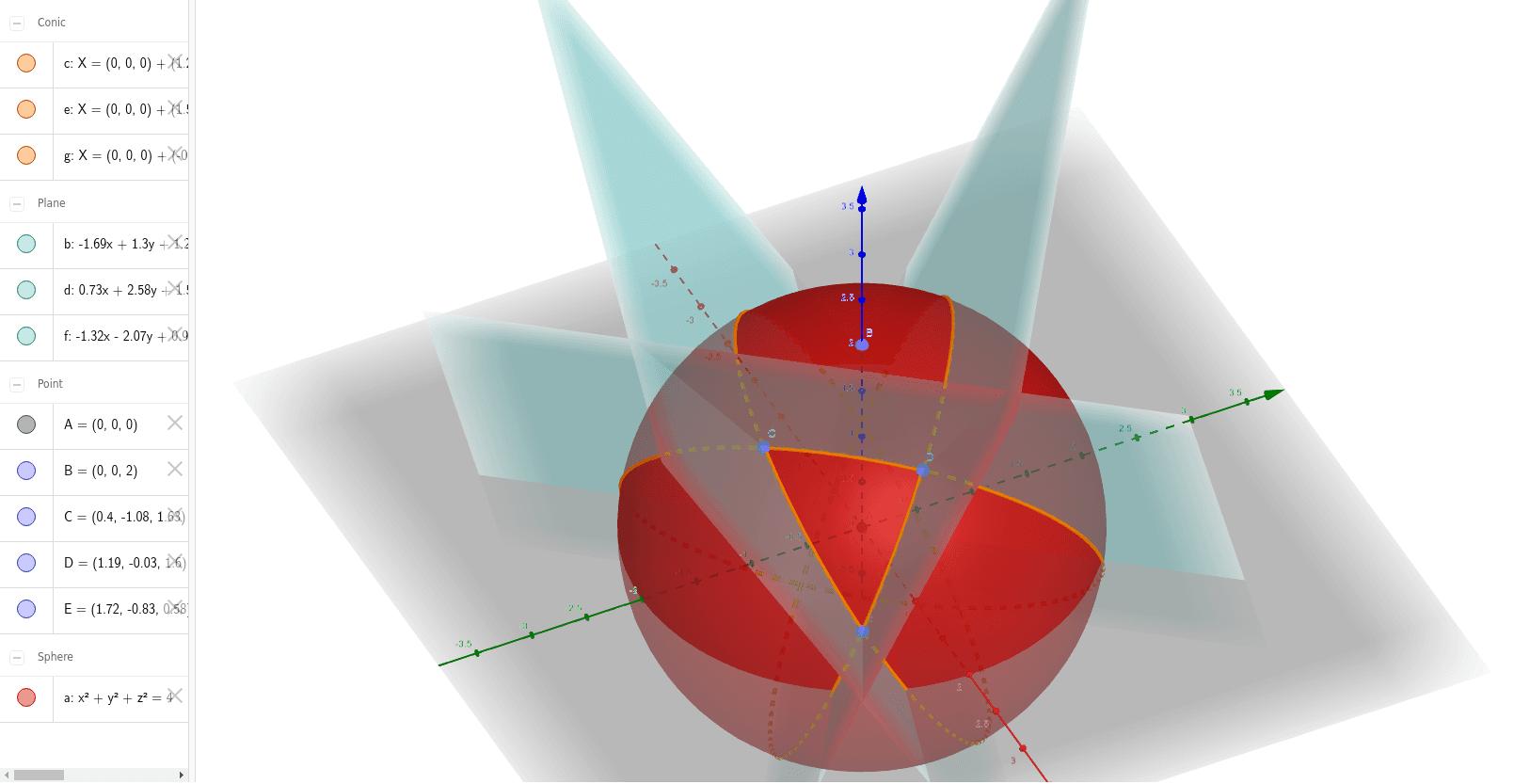 Triângulo esférico CDE