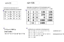multiplication Égyptienne et code binaire