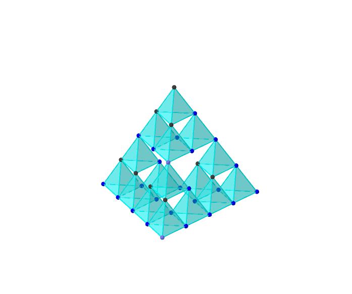 最初に正四面体を作りそれをどんどんコピーしていって作成。まだできると思うが、動きが鈍くなる。 ワークシートを始めるにはEnter キーを押してください。