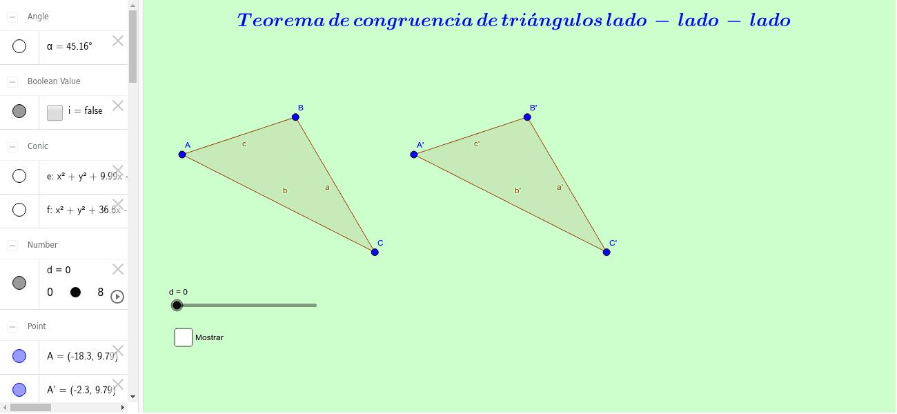 Demostración Triángulos Congruentes