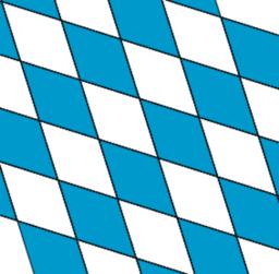 Bayerisches Rautenmuster mit Animation