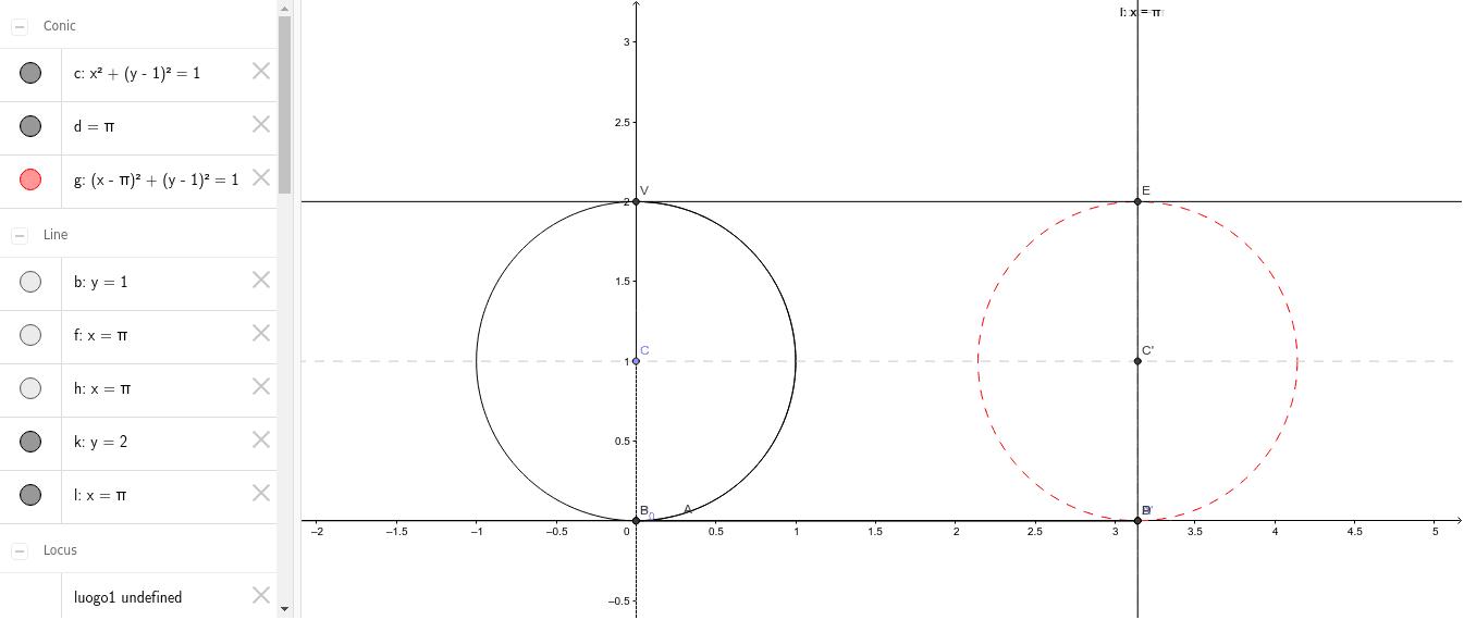 Costruzione della cicloide per quadratura