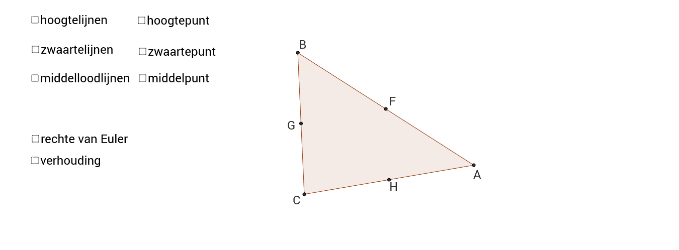 Rechte van Euler Klik op Enter om de activiteit te starten