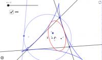 円Pの接線の直極点の軌跡